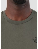The North Face The North Face Simple Dome T-Shirt New Taupe Green TNF Black T92TX5BQW