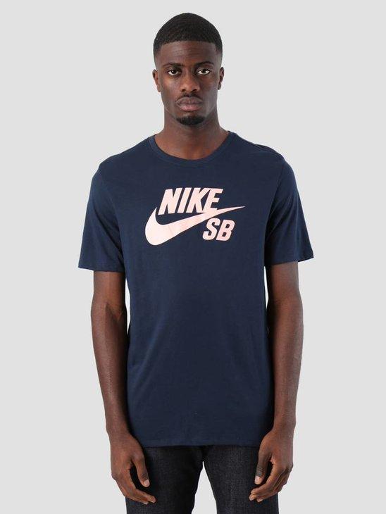 Nike SB T-Shirt Obsidian Obsidian Storm Pink 821946-462
