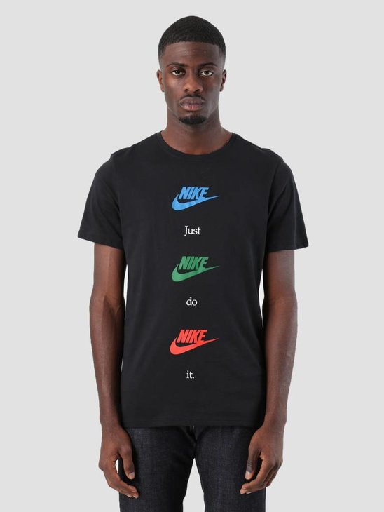 Nike NSW T-Shirt Table Hbr 20 Black Blue Nebula Aa6508-010