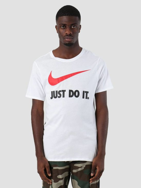Nike Sportswear Just Do It. Swoosh T-Shirt White University Red 707360-108