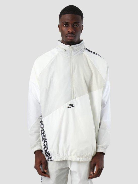 Nike Nsw Taped Wvn Anorak Sail White Light Bone Black AR4941-133