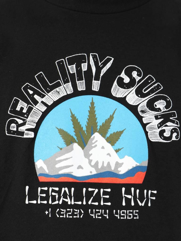 HUF HUF Reality Sucks T-Shirt Black Ts00470