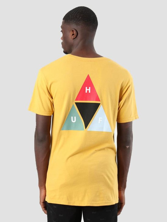 HUF Prism Triangle T-Shirt Mineral Yellow Ts00474