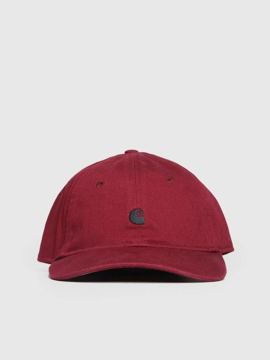 Carhartt Madison Logo Cap Mulberry Black I023750-88400