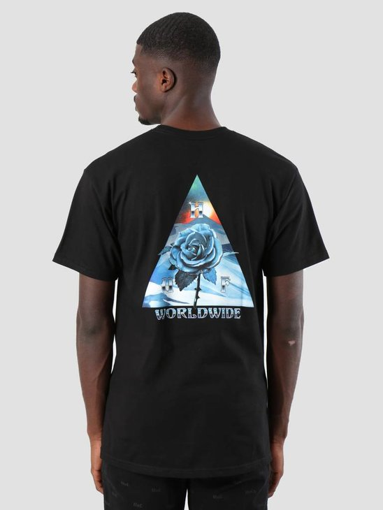 HUF Ice Rose Triangle T-Shirt Black Ts00478