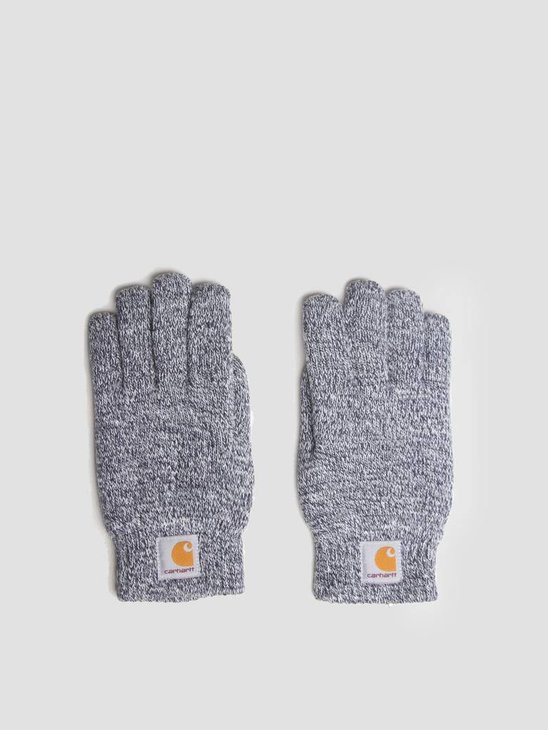 Carhartt WIP Scott Gloves Dark Navy wax I015530-1C92