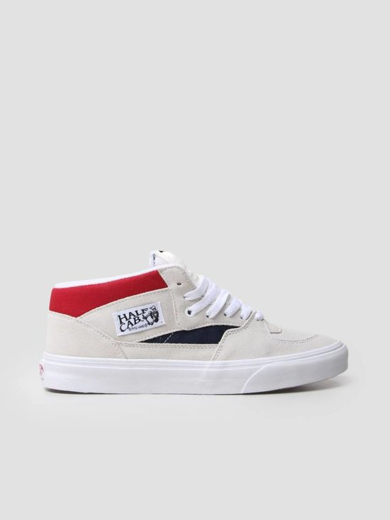 Vans UA Half Cab Retro Block White Red Dress Blues VA348EQKN