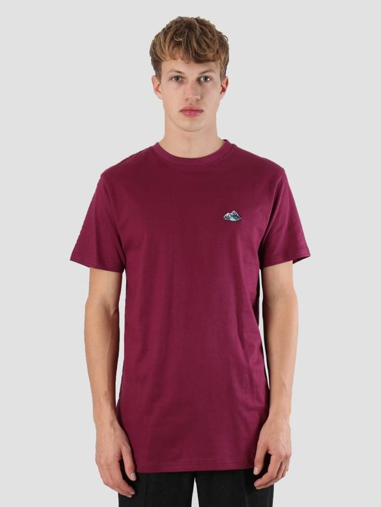 Wemoto Mountains T-Shirt Burgundy 121.227-501