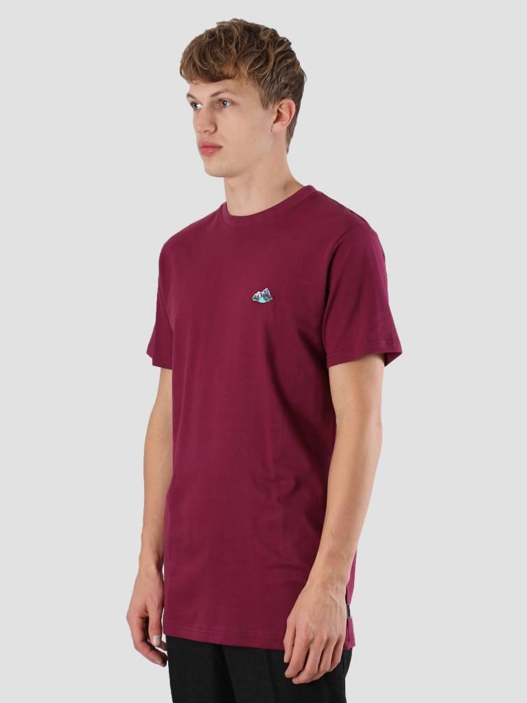 Wemoto Wemoto Mountains T-Shirt Burgundy 121.227-501