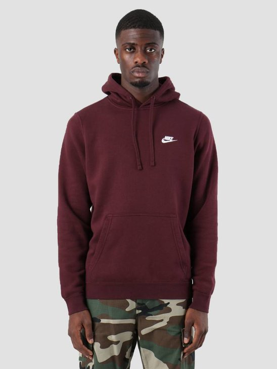 Nike NSW Hoodie Burgundy Crush  Burgundy Crush White 804346-653