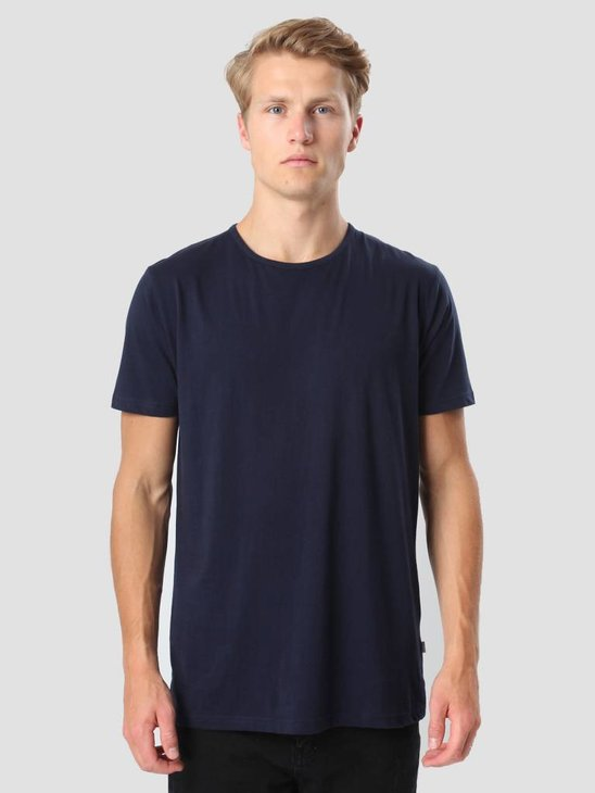RVLT Round Neck T-Shirt Navy 1001