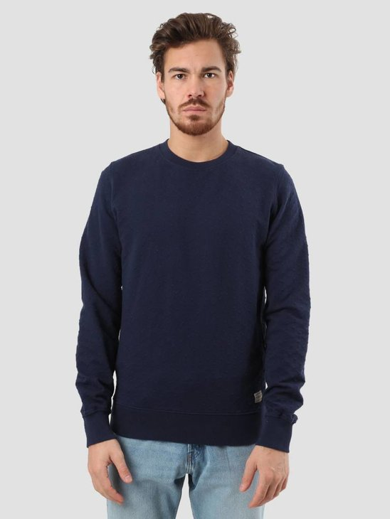 RVLT 3D Structure Sweater Navy 2543