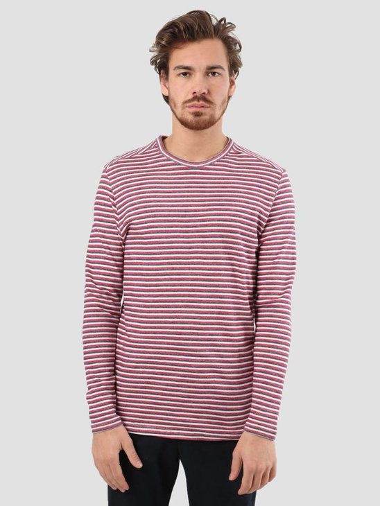 RVLT Tricolor Stripe Sweater Navy 2550