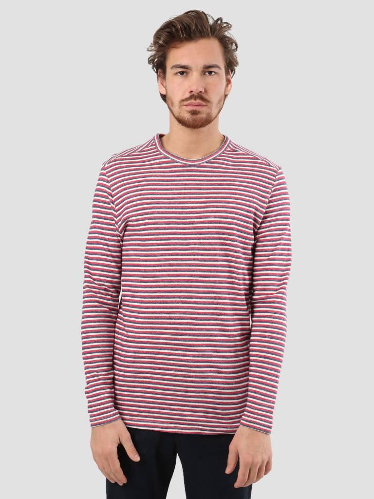 RVLT RVLT Tricolor Stripe Sweater Navy 2550