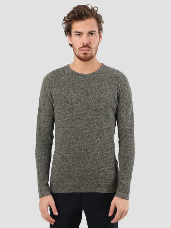 RVLT Slim Fit Pearl Structure Knit Green 6470