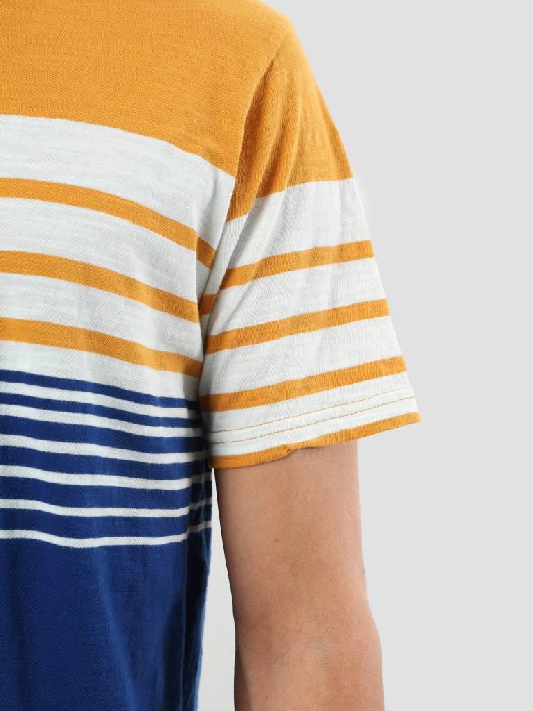 RVLT RVLT Slub Stripes T-Shirt Yellow 1939