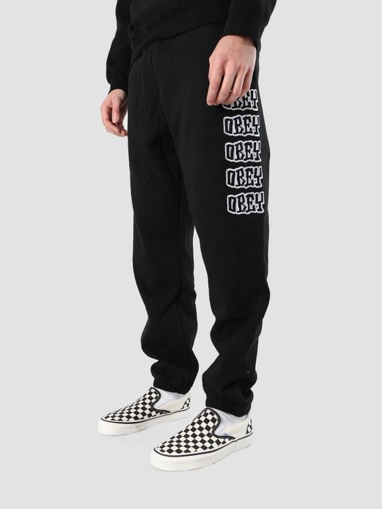 Obey Daze Fleece Pants 142030019S-BLK
