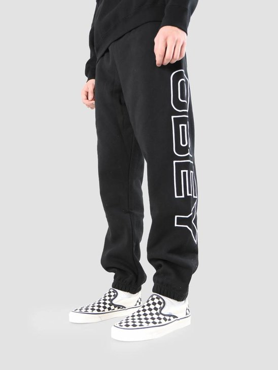 Obey Line Fleece Pants 142030020S-BLK
