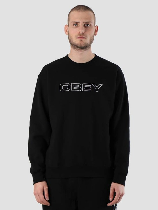 Obey Line Crew 112480047S-BLK