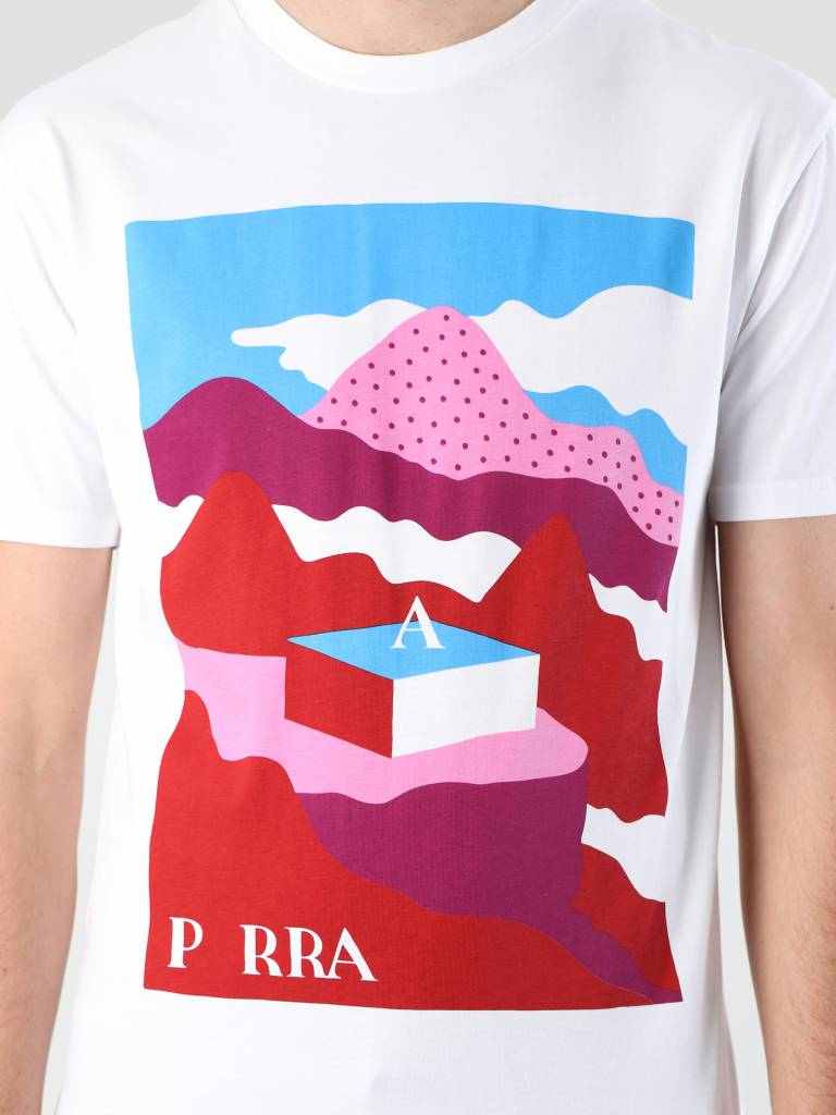By Parra By Parra Lost City Box T-Shirt White 419050