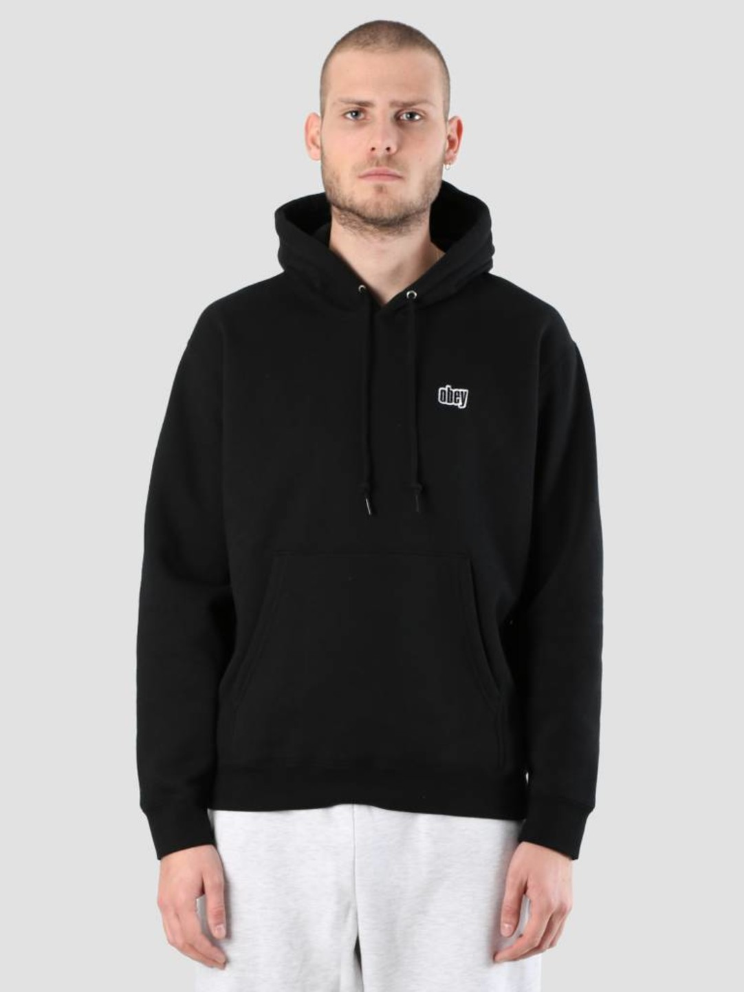Obey Obey Pulley Hood 112470062S-BLK