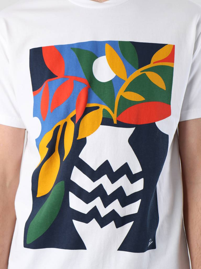 By Parra By Parra Still Life With Plant T-Shirt White 41860