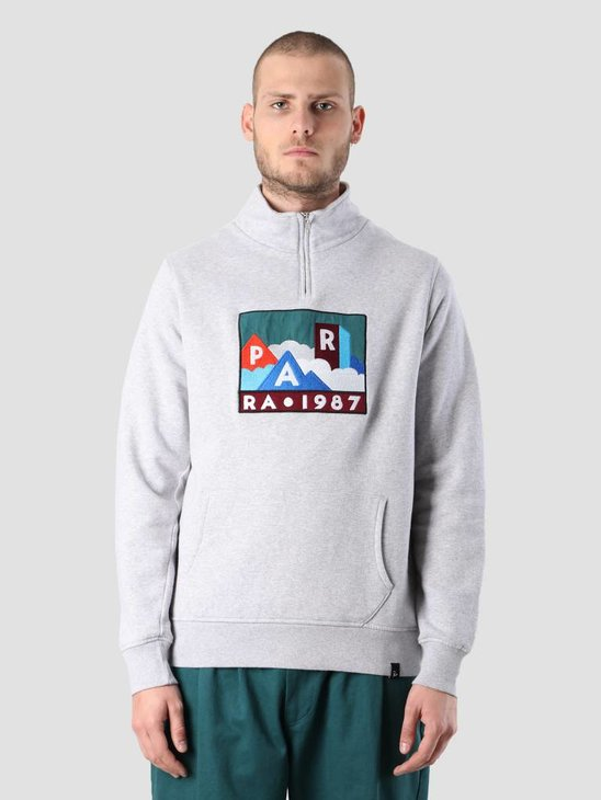By Parra Mountains Of 1987 Quarter Zip Pullover Ash Grey 41970