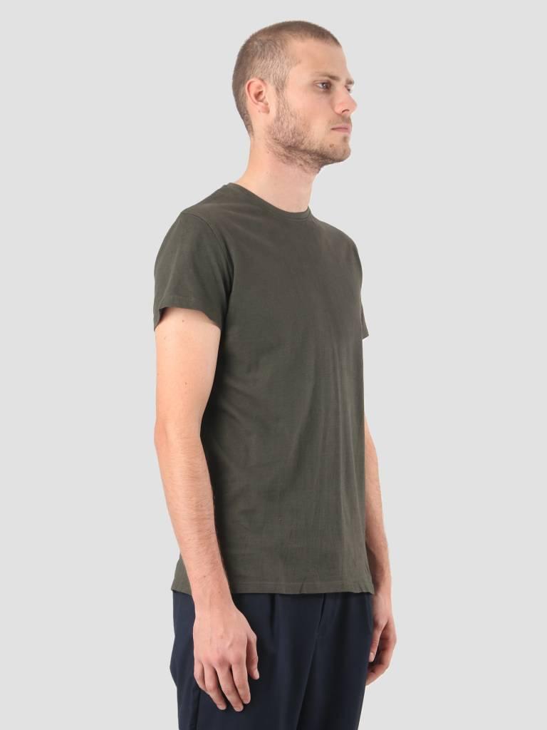 Kronstadt Kronstadt Hey Ho Basic T-Shirt Army KRFH18-KS2455