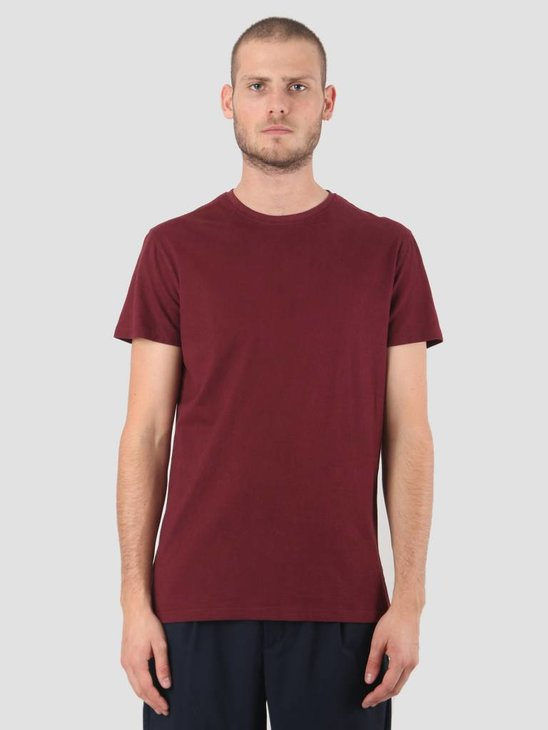 Kronstadt Hey Ho Basic T-Shirt Bordeaux KRFH18-KS2455
