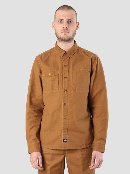 Dickies Coalton Shirt Brown Duck 200318