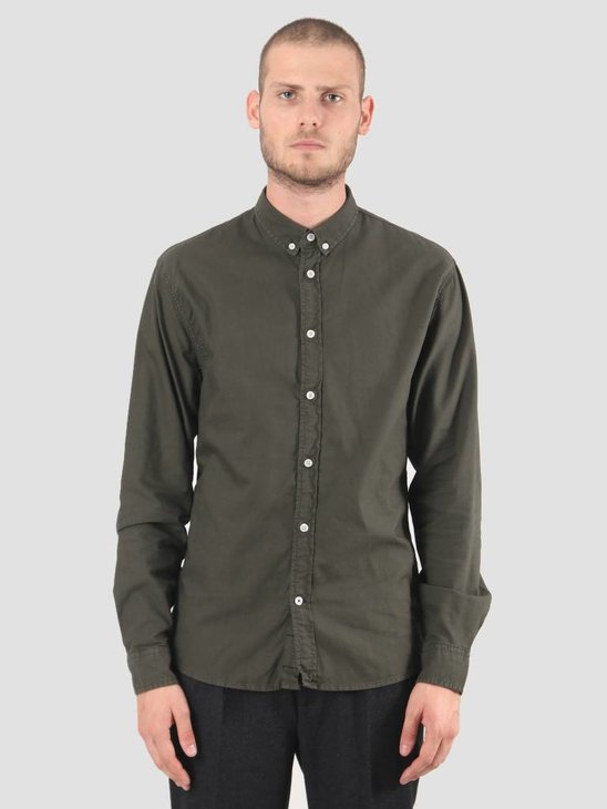 Kronstadt Johan Oxford Dyed Shirt Army KRFH18-KS2470