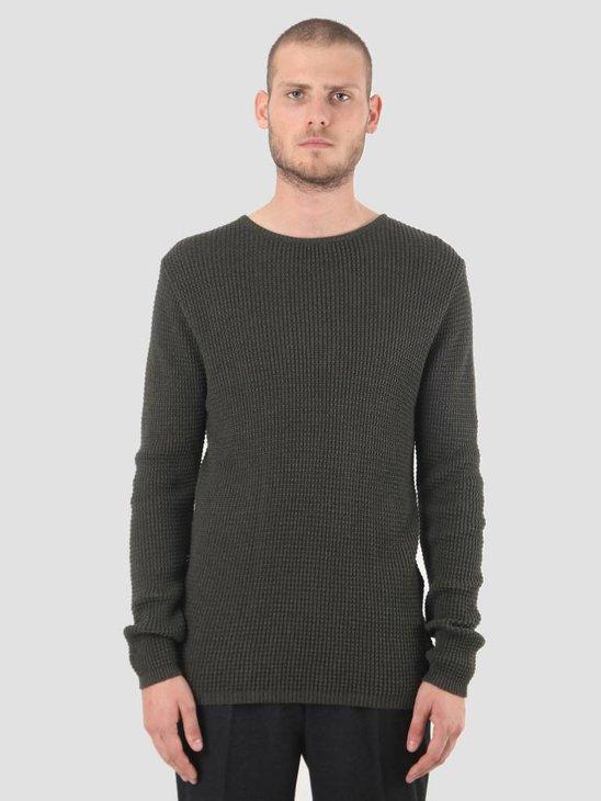 Kronstadt Waffle Knit Sweater Army Mell KRFH18-KS1070