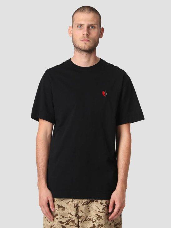 Libertine Libertine Cooper Wineheart T-Shirt Solid Black 1446