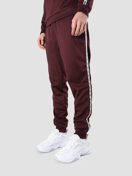 Nike NSW Repeat Pant Poly Burgundy Crush  White Ar4912-652