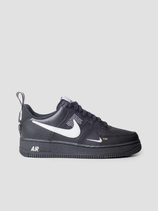 Nike Air Force 1 '07 Lv8 Utility Black White Black Tour Yellow Aj7747-001