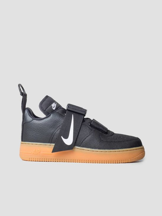 Nike Air Force 1 Utility Black White Gum Med Brown Ao1531-002