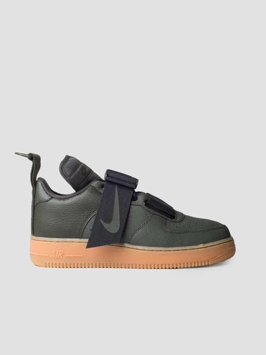 Nike Air Force 1 Utility Sequoia Black Gum Med Brown Ao1531-300
