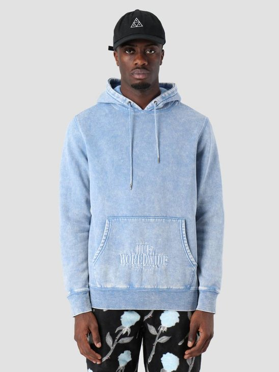 HUF Serif Stack Fw Hoodie Forever Blue Pf00088