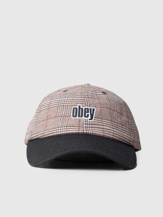 Obey Dayton 6 Panel Hat Khaki multi 100580163-KHA