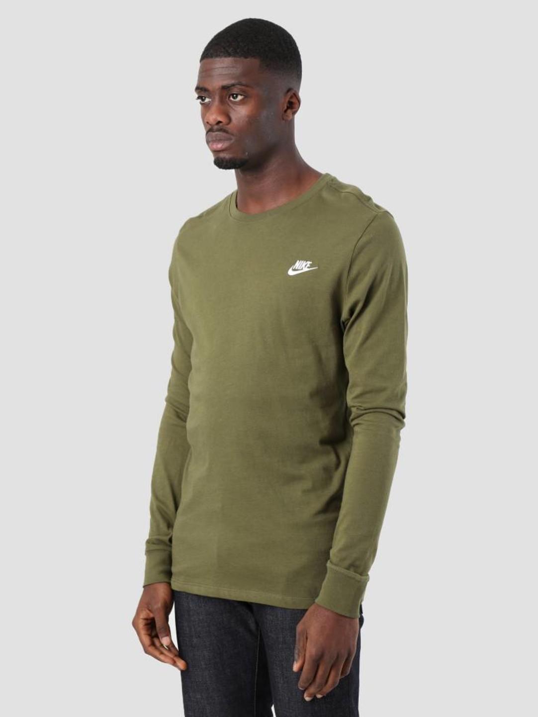 Nike Nike NSW Longsleeve Olive Canvas White Aq7141-395