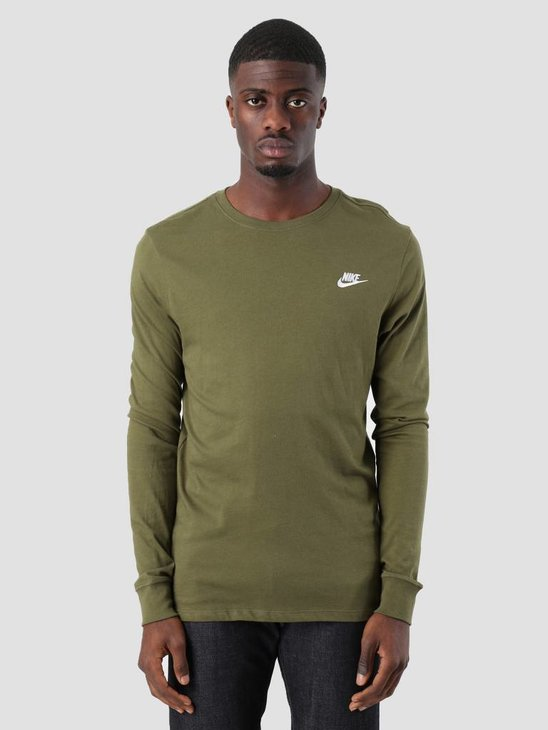Nike NSW Sweater Olive Canvas White Aq7141-395