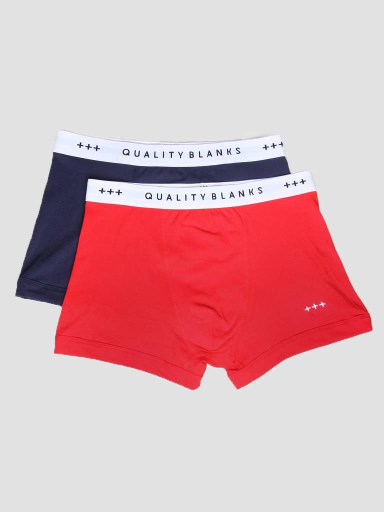 Quality Blanks Quality Blanks QB04 2-pack Trunks Navy Red