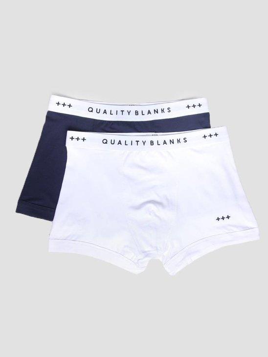 Quality Blanks QB04 2-pack Trunks Navy White
