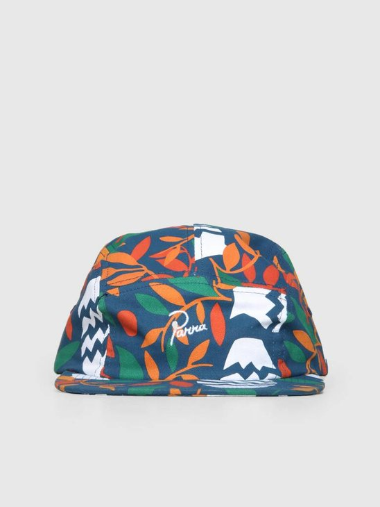By Parra Still Life With Plants 5 Panel Volley Hat Ripstop Nylon 41940