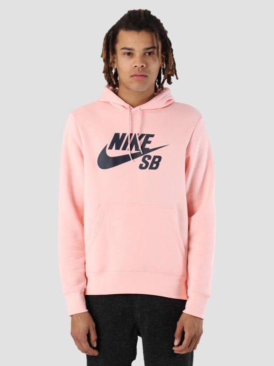 Nike SB Icon Hoodie Storm Pink Obsidian Aj9733-646