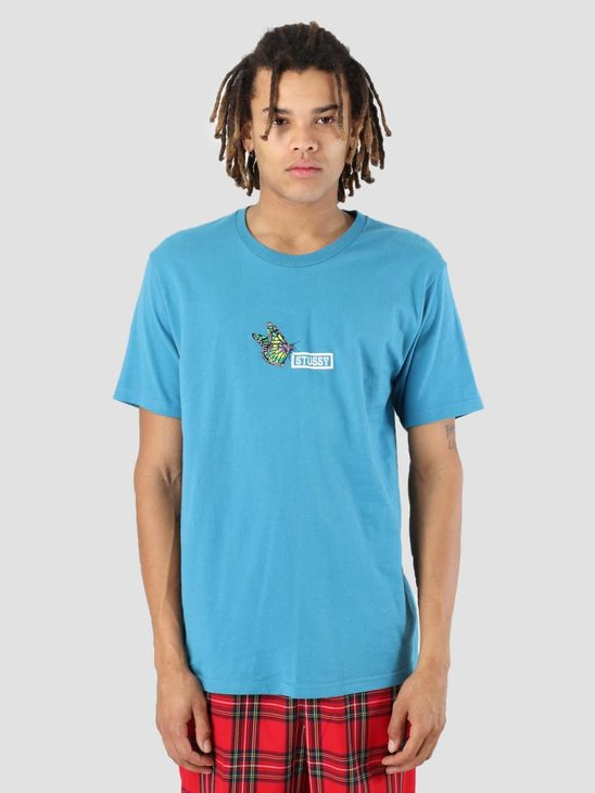 Stussy Butterfly T-Shirt Ocean 0816