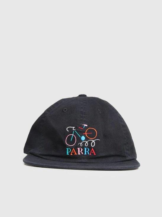 By Parra Broken Frame 6 Panel Hat Stonewashed Black 41670