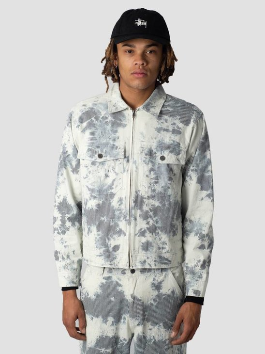 Stussy Hickory Stripe Garage Jacket Jacket Natural 1002