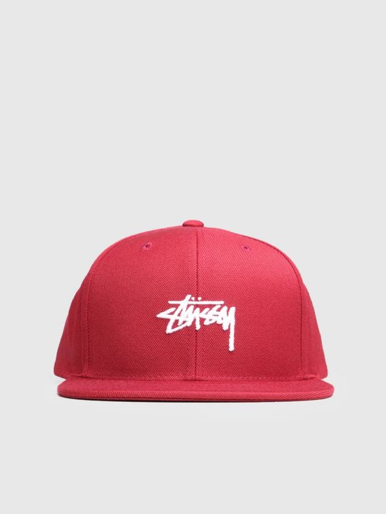 Stussy Ho18 Stock Cap Cherry 0646