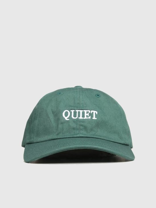 The Quiet Life Bodoni Dad Hat Forest Green 18FAD2-2214-GRN